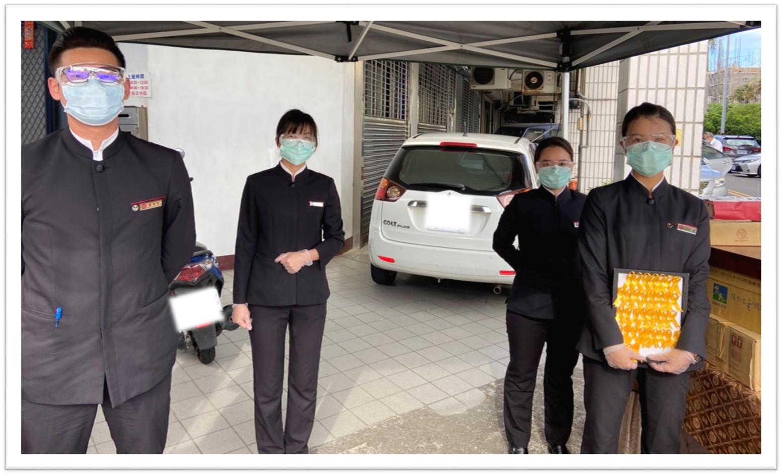 龍巖照顧第一線服務同仁,提供完備的防疫物資.jpg